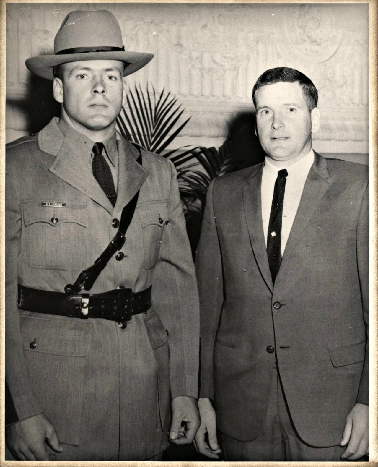 Brothers on the job: Tpr. Damus Lawliss and Sgt. Jack Lawliss, 1965