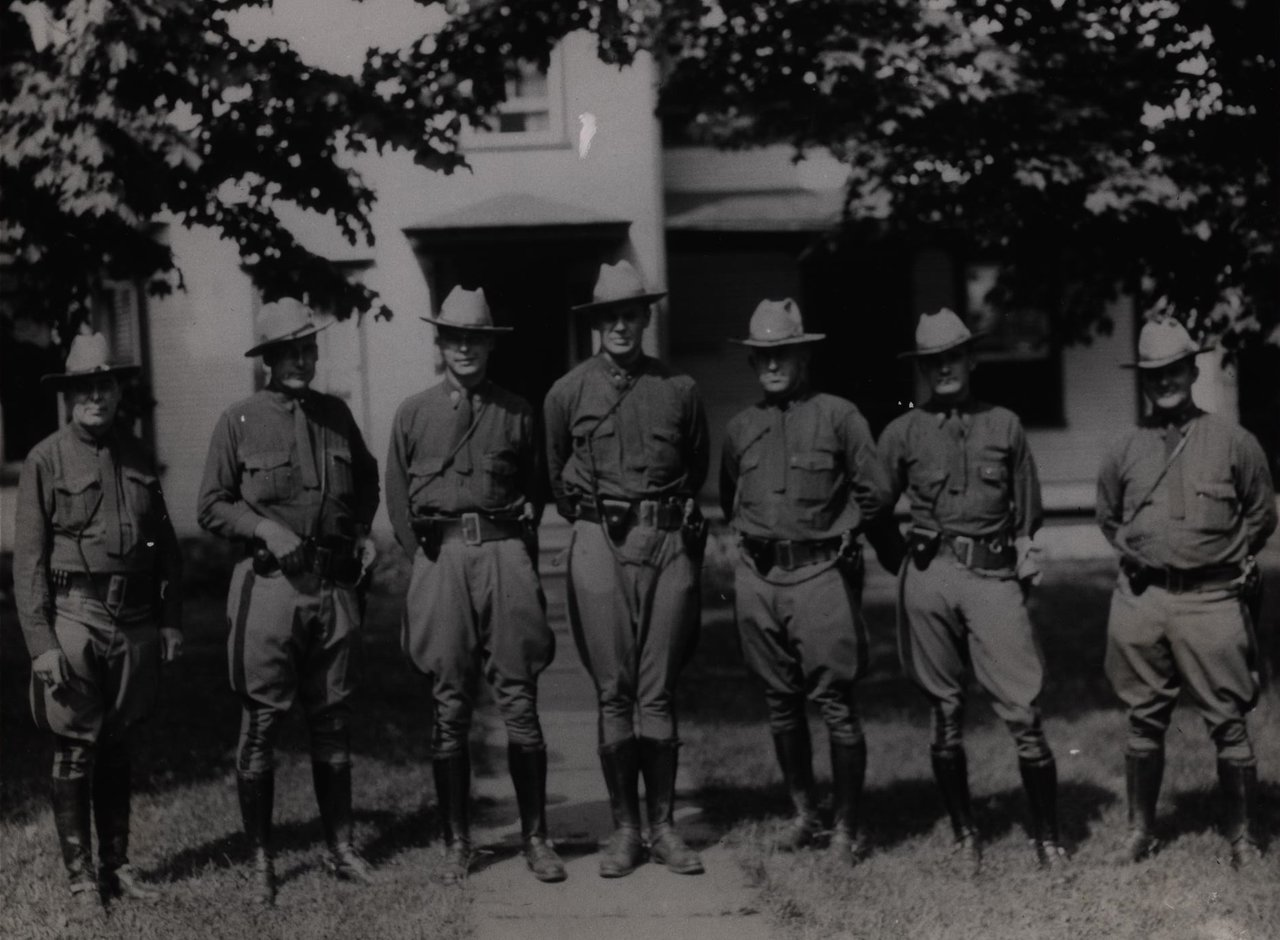 Trooper Maloney is 2nd from left, and Corporal Post is 3rd from right