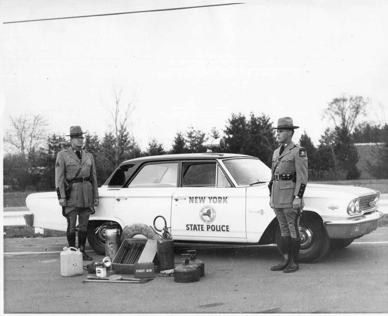 Early Troop T patrol with items used on patrol